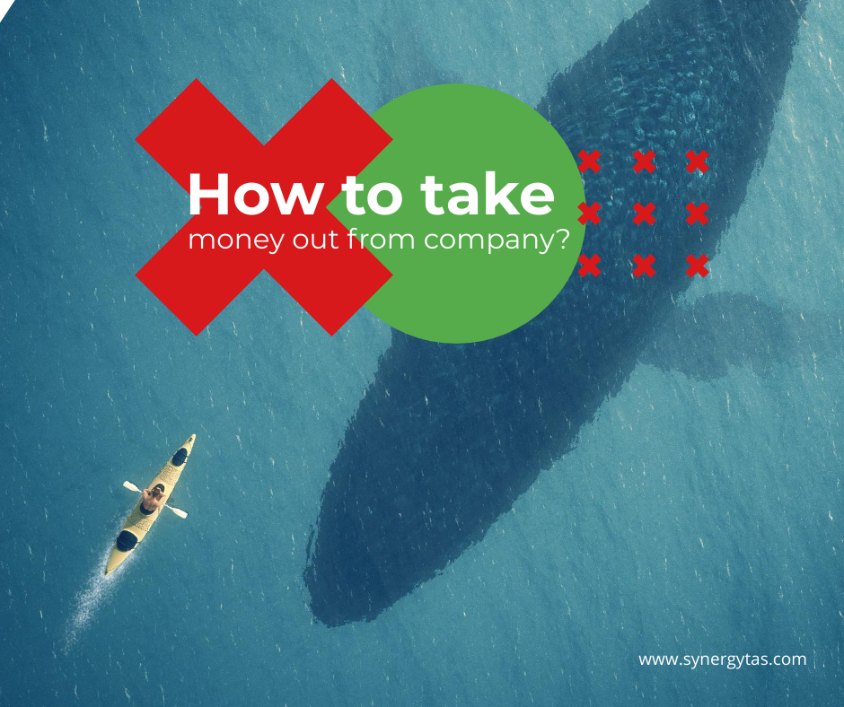 take money out from company